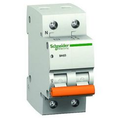 Автомат ВА63 1P+Н 63A C Schneider electric