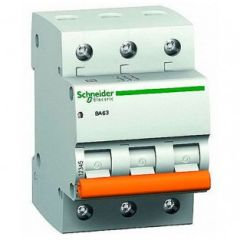 Автомат ВА63 3P 10A C Schneider electric